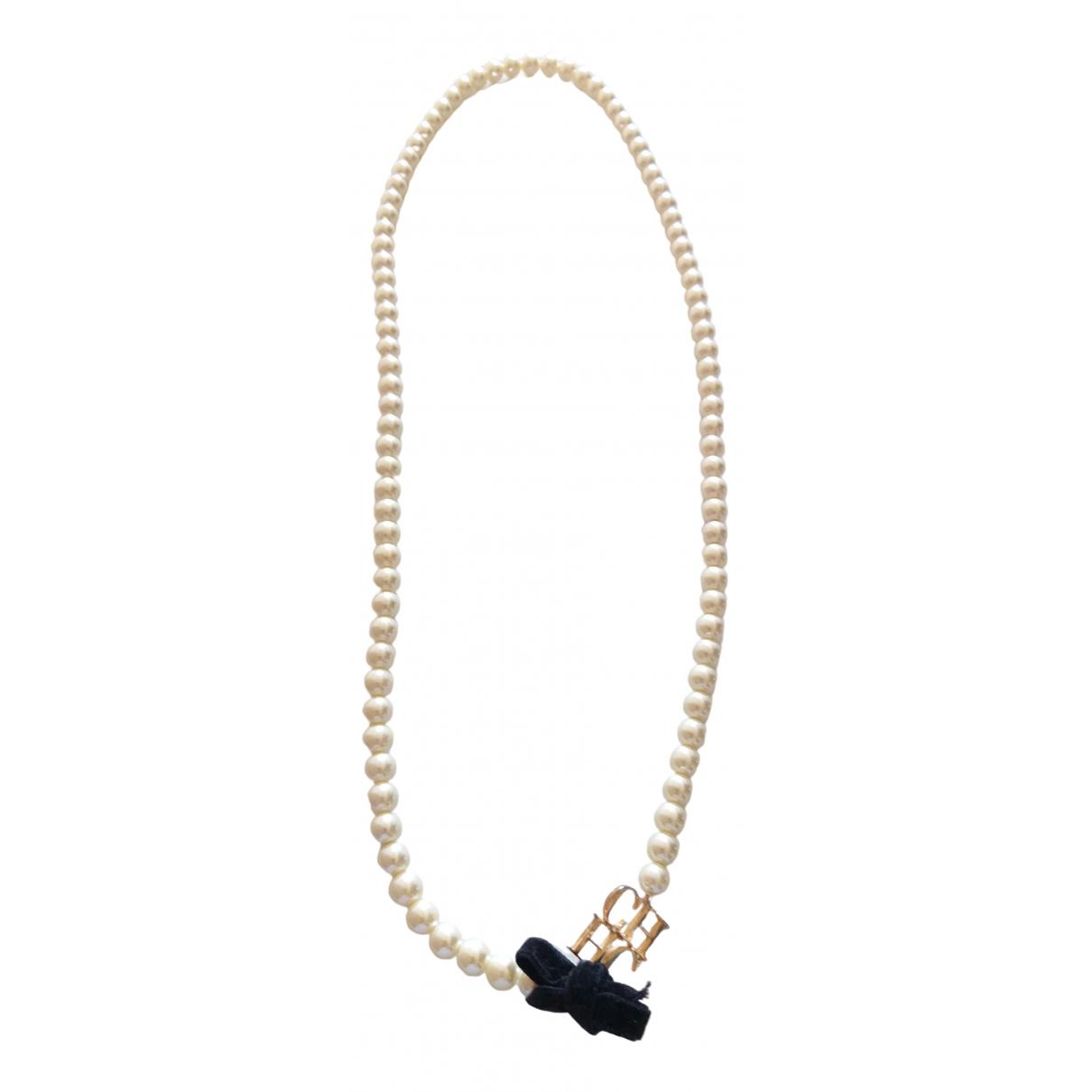 Carolina Herrera - Sautoir   pour femme en perles - blanc