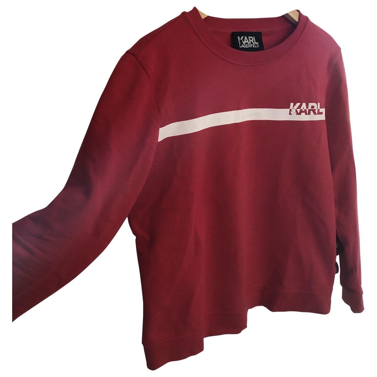 Karl Lagerfeld \N Red Wool Knitwear & Sweatshirts for Men L International