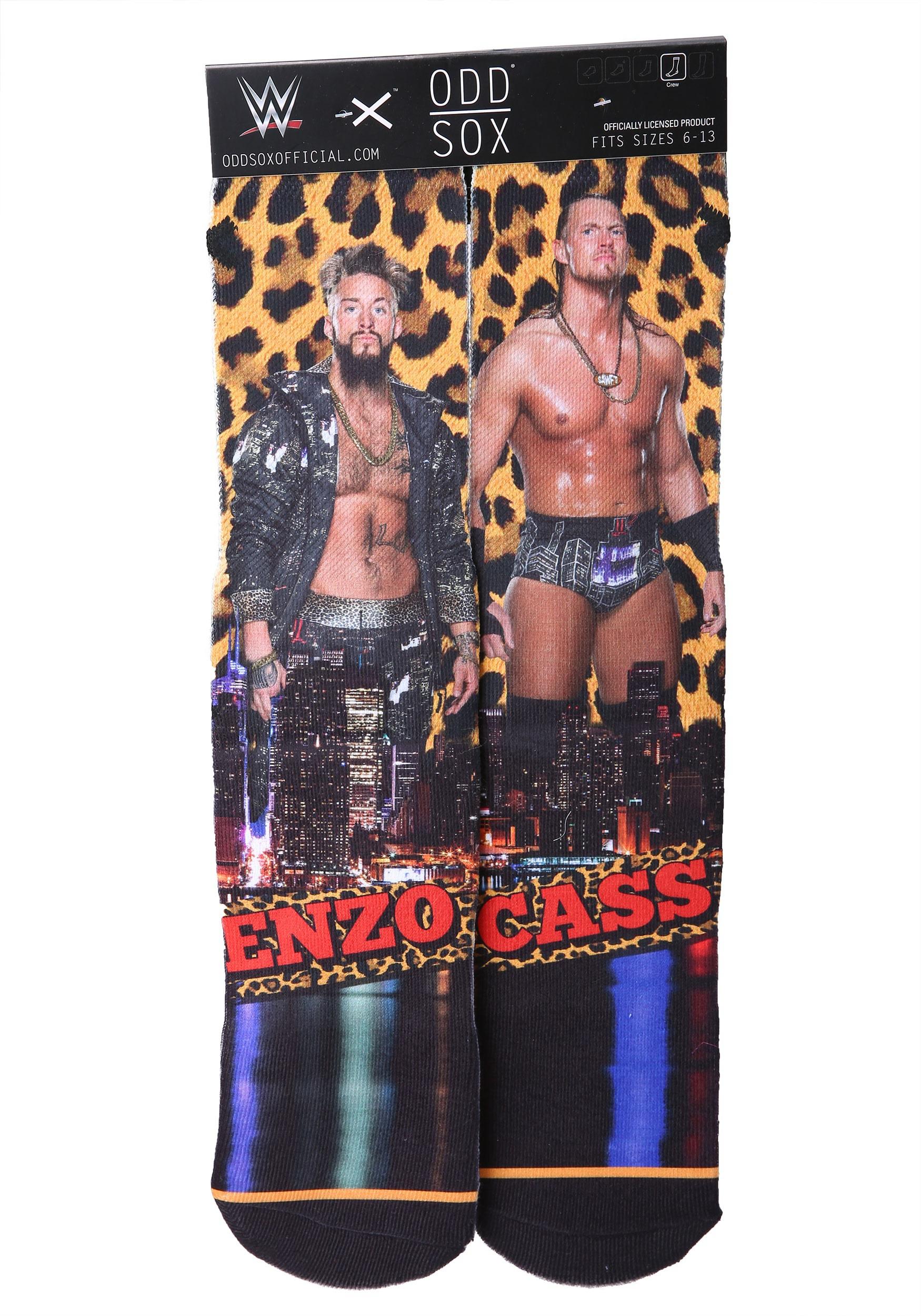 Adults WWE Enzo & Cass Odd Sox