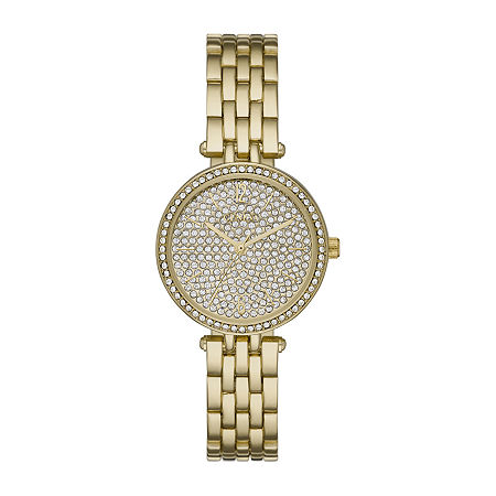 Geneva Womens Crystal Accent Gold Tone Bracelet Watch-Fmdjm212, One Size , No Color Family