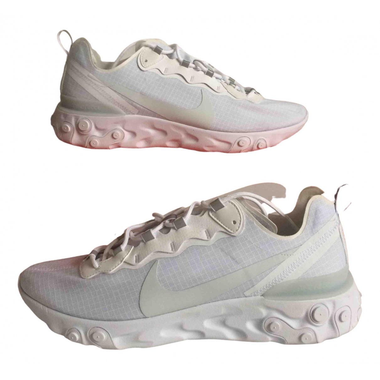Nike React element 55 White Rubber Trainers for Men 46 EU
