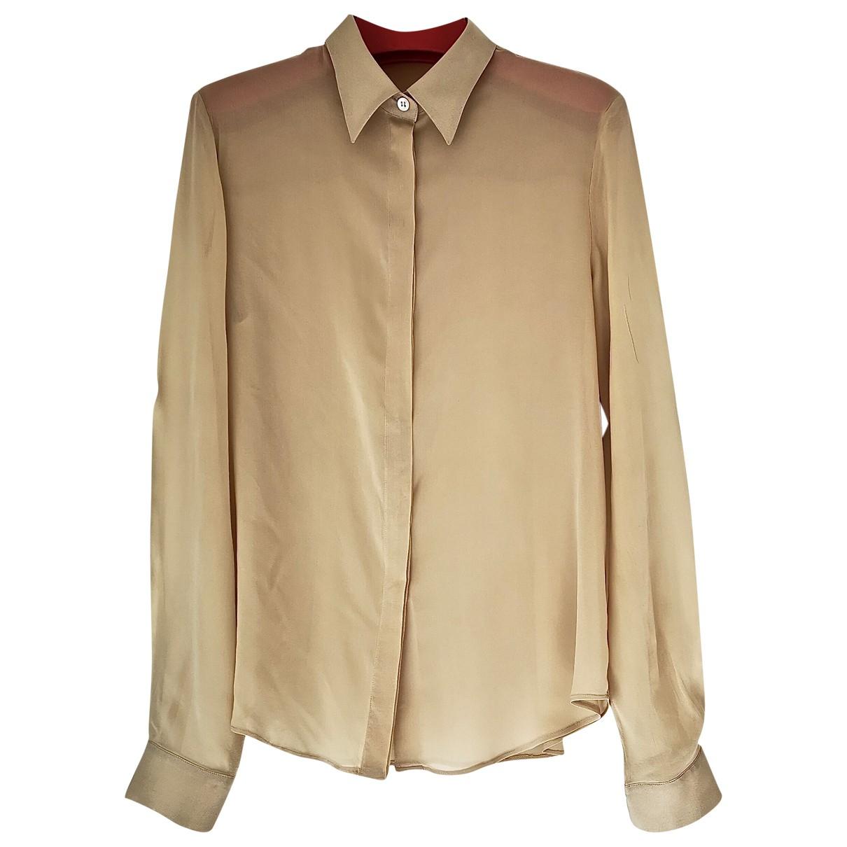 Boss - Top   pour femme en soie - beige