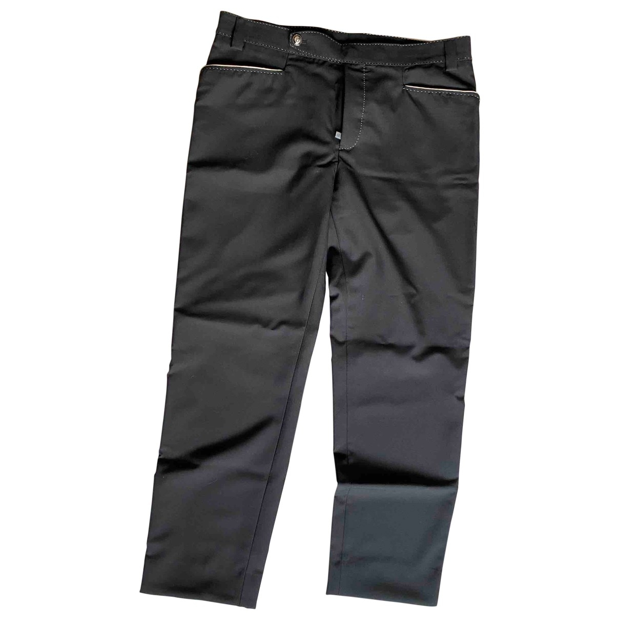 Dolce & Gabbana \N Anthracite Cotton Trousers for Men 52 IT