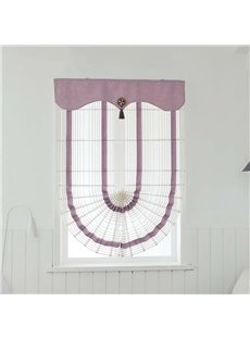 Delicate Home Decor Bird Pattern Fan-Shaped Custom Roman shades
