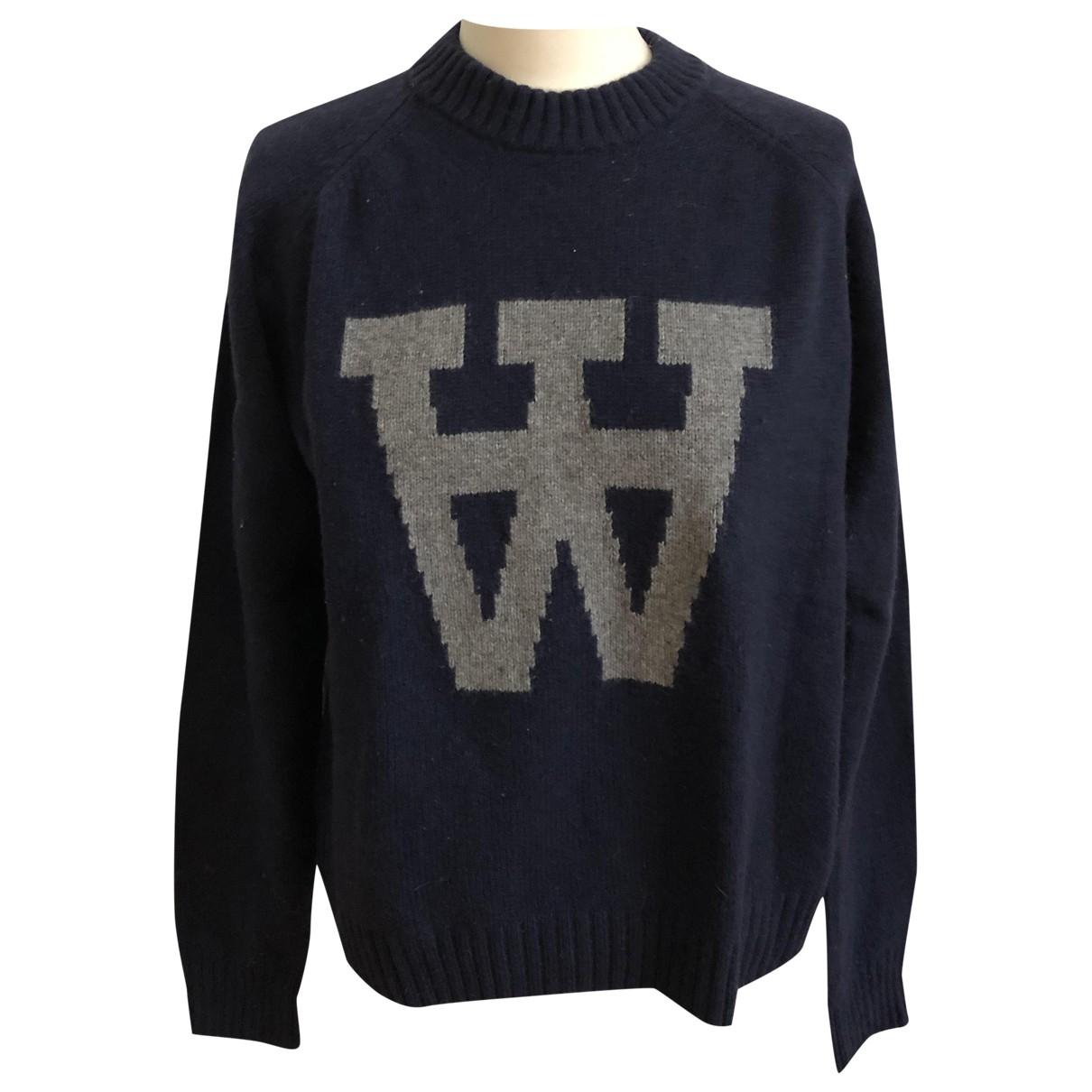 Wood Wood - Pull   pour femme en laine - bleu
