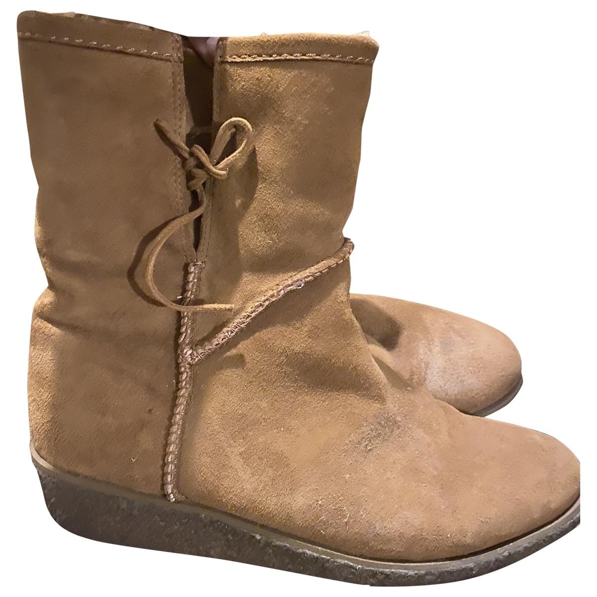 Lk Bennett \N Camel Suede Boots for Women 7 UK