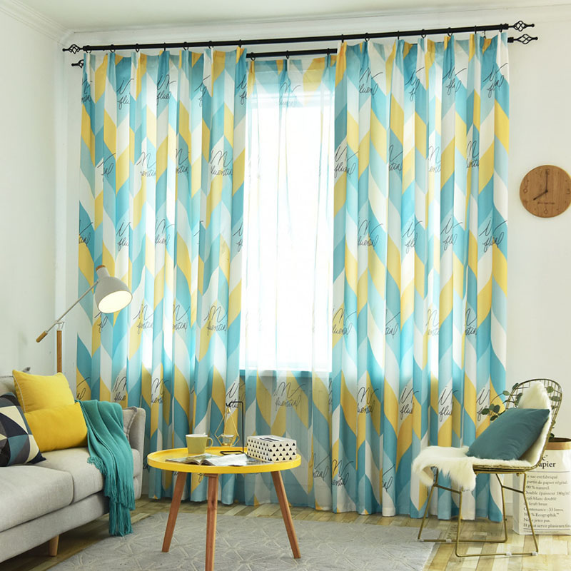 Nordic Modern Simple Custom Living Room Sheer Curtains Breathable Voile Drapes No Pilling No Fading No off-lining