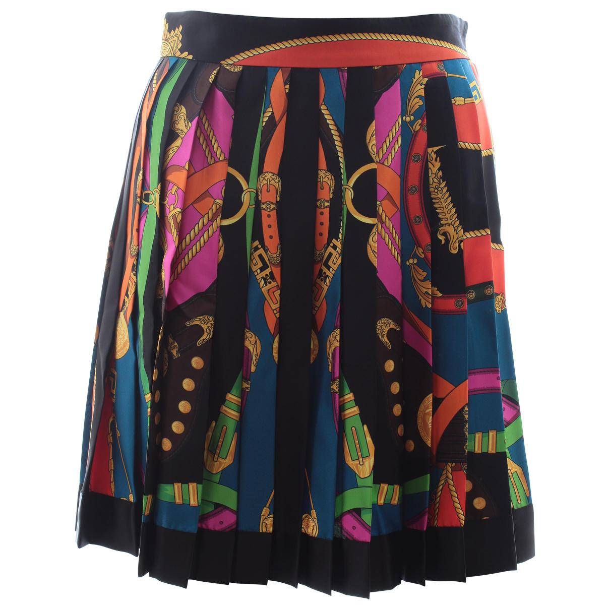Mini falda de Seda Versace