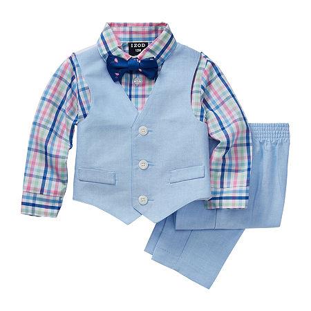 IZOD Baby Boys 4-pc. Suit Set, 24 Months , Pink