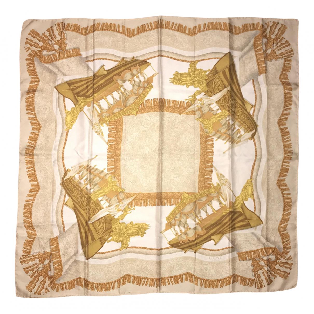 Loewe - Carre   pour femme en soie - beige