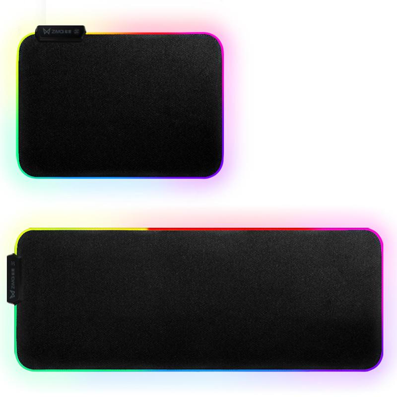 Zimai 35*25*0.3cm RGB Colorful Backlit LED Small Mouse Pad Anti-skid Rubber Mats