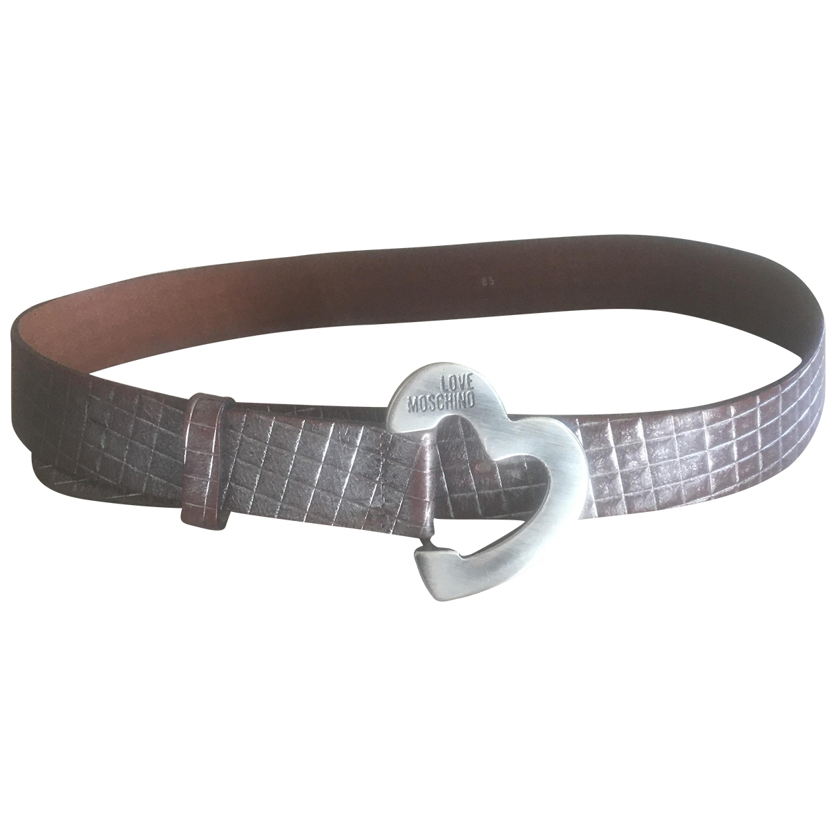 Moschino Love \N Leather belt for Women 85 cm
