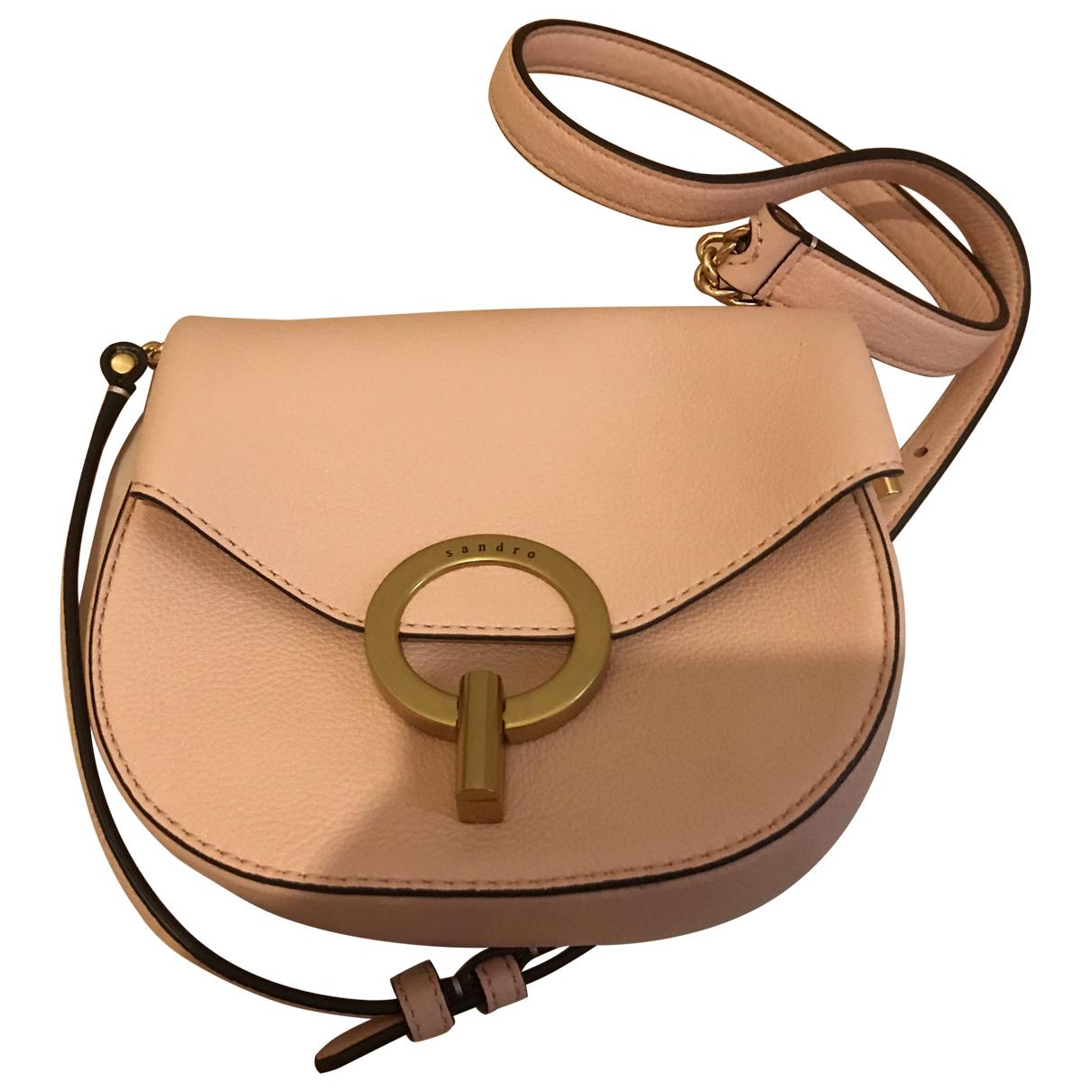Sandro \N Pink Leather handbag for Women \N