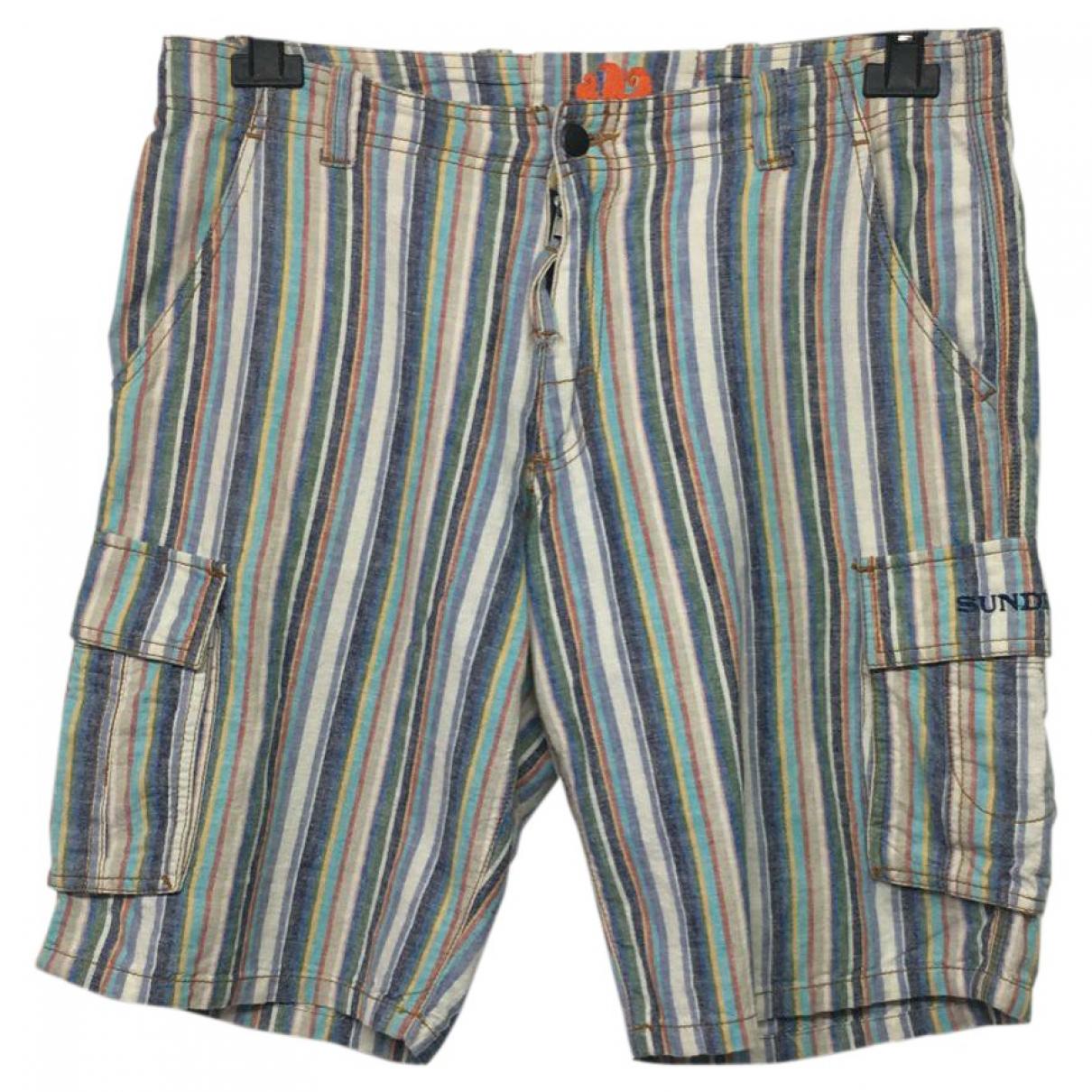 Sundek \N Multicolour Linen Shorts for Men 46 IT