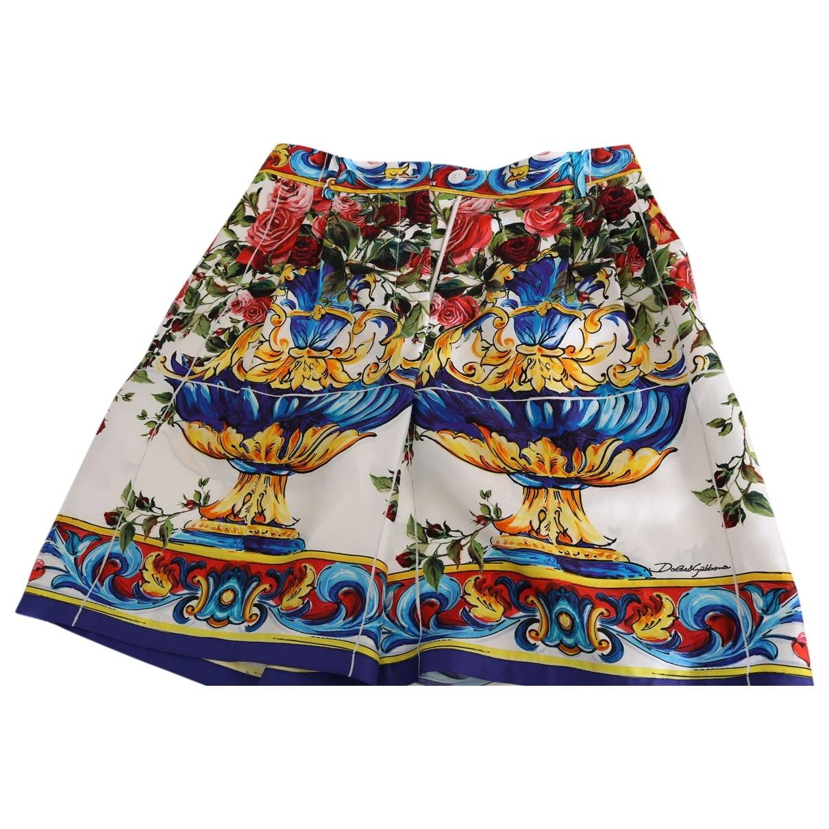 Dolce & Gabbana \N Multicolour Silk Shorts for Women 38 IT