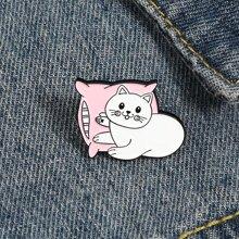 Brosche mit Katze Design