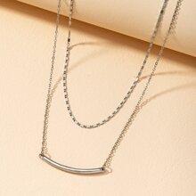 Geometric Design Layered Necklace