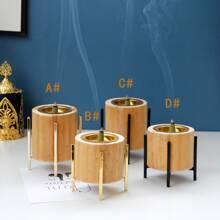 1pc Wooden Incense Burner