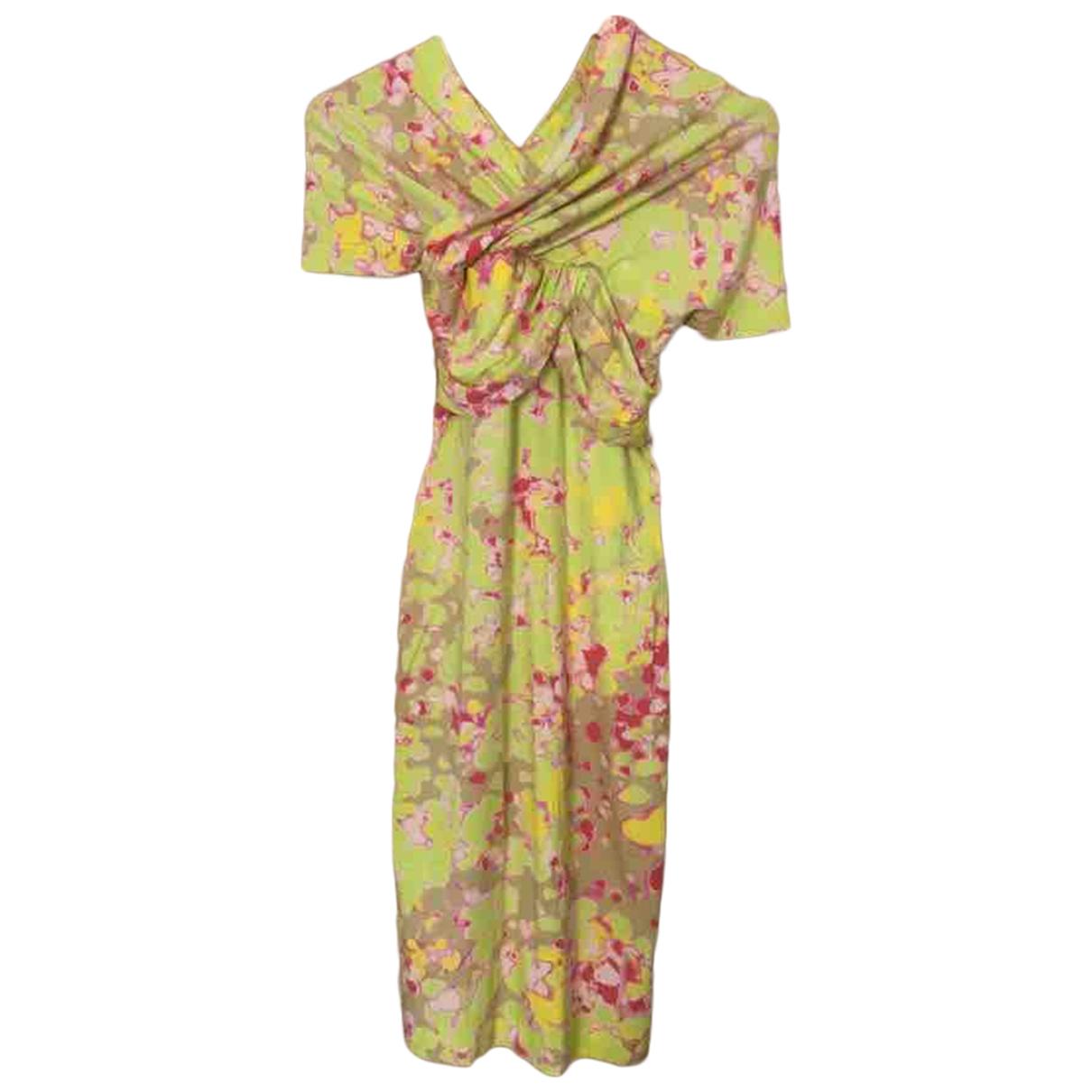 Carven \N Kleid in  Gelb Baumwolle