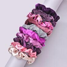10pcs Solid Scrunchies