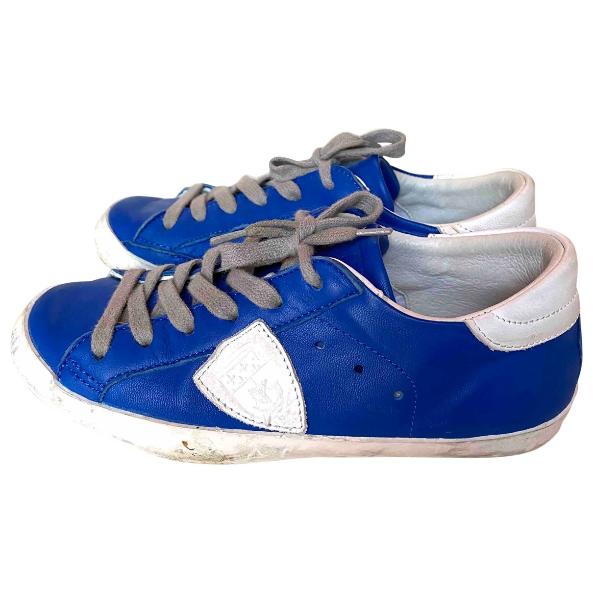 Philippe Model \N Blue Leather Trainers for Kids 33 EU
