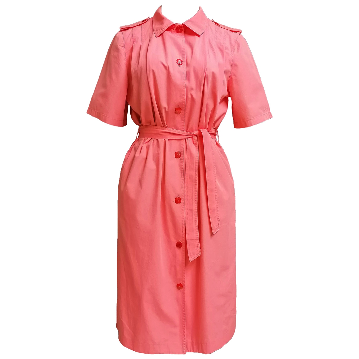 Non Signé / Unsigned \N Pink Cotton dress for Women L International