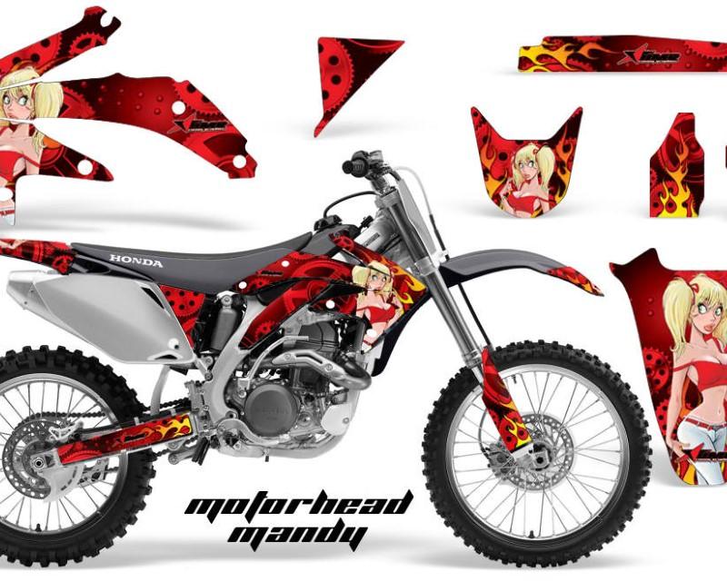 AMR Racing Dirt Bike Graphics Kit Decal Sticker Wrap For Honda CRF450R 2005-2008áMOTO MANDY RED