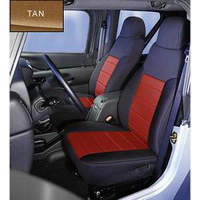 Rugged Ridge Custom Fit Neoprene Front Seat Covers (Black/Tan) - 13212.04