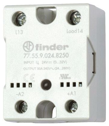 Finder 50 A SPNO Solid State Relay, Zero Crossing, Heatsink, 660 V ac Maximum Load