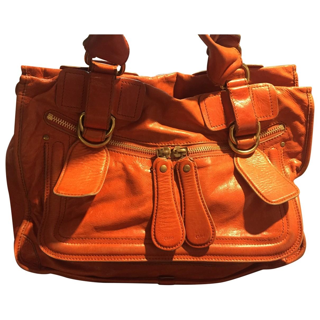 Chloé Bay Orange Leather handbag for Women \N
