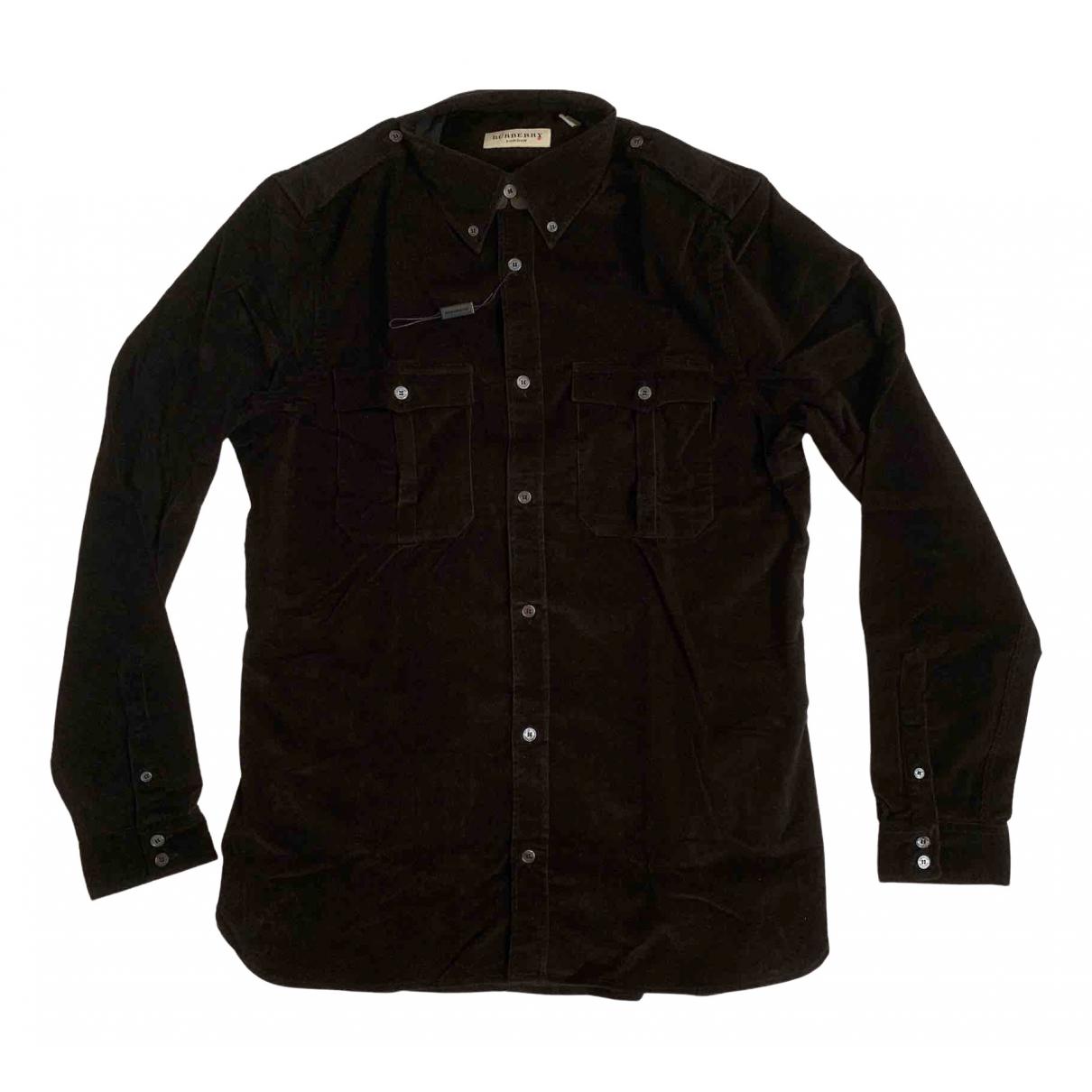 Burberry \N Hemden in  Schwarz Samt