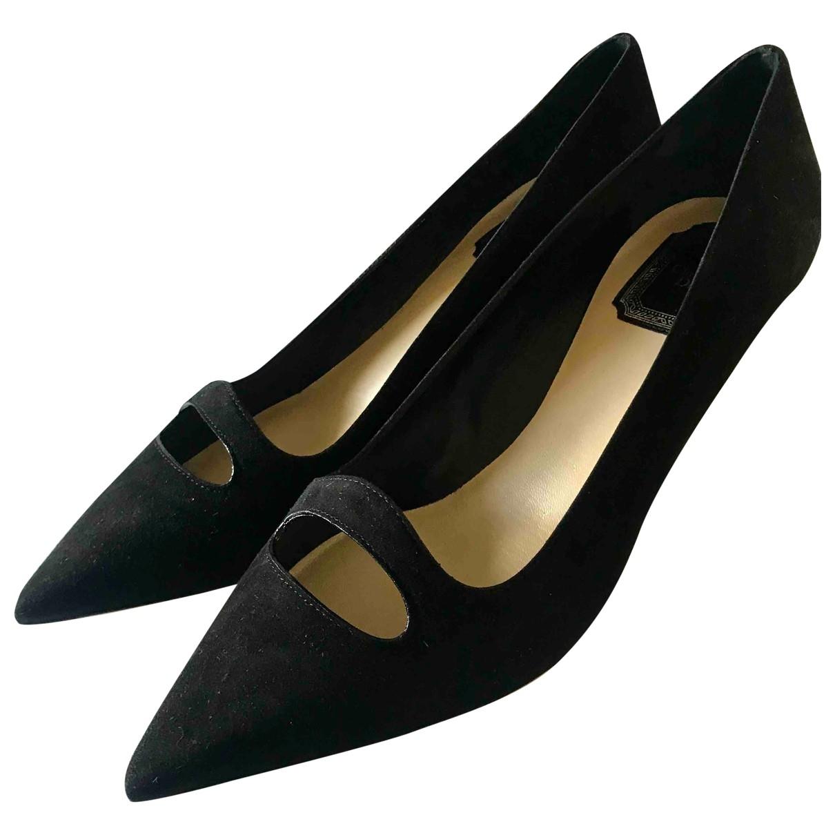 Dior - Escarpins   pour femme en suede - noir