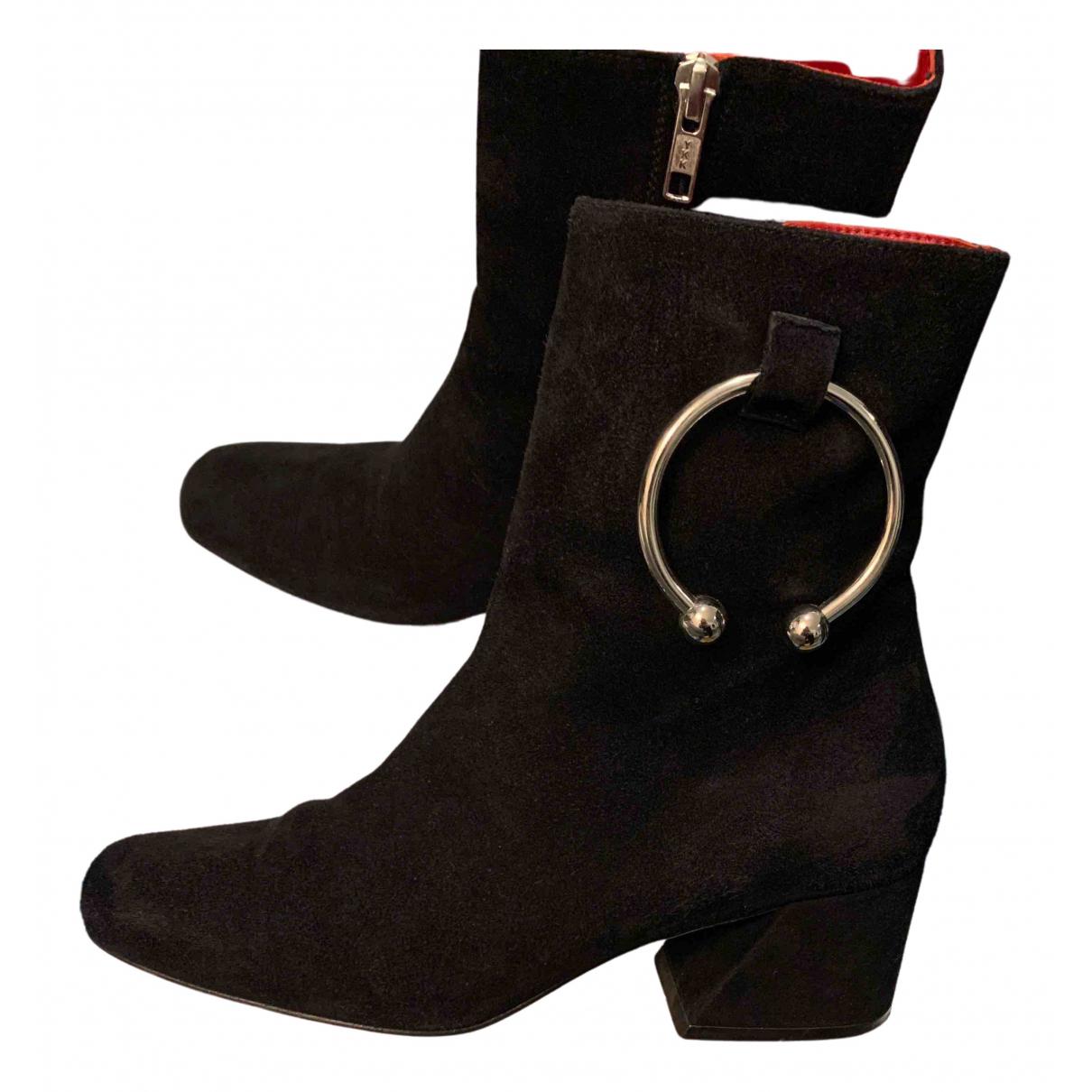Dorateymur - Boots   pour femme en suede - noir