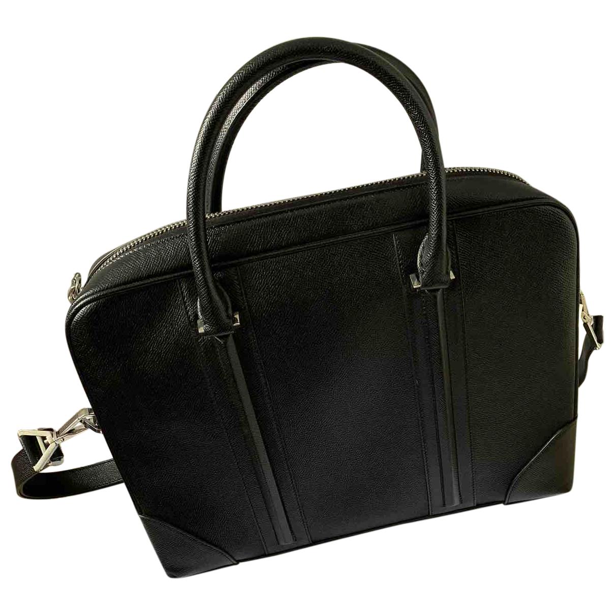 Givenchy \N Black Leather bag for Men \N