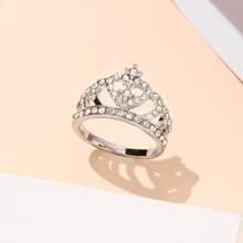 Rhinestone Crown Decor Ring