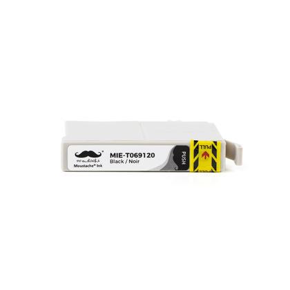 Compatible Epson 69 (T069120) cartouche d'encre noire de Moustache, 10 paquet