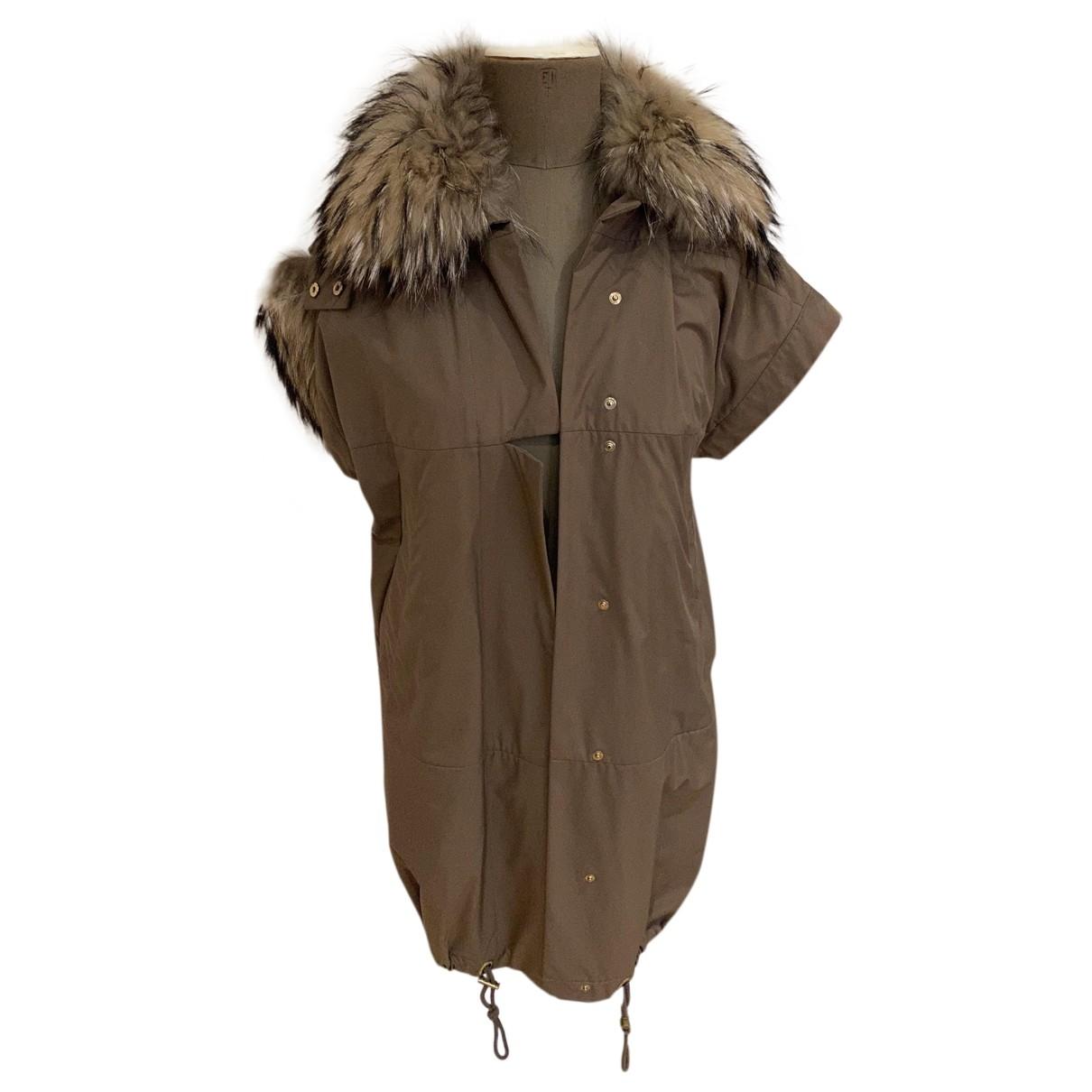 Gucci - Veste   pour femme en renard - beige