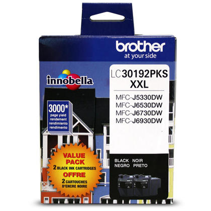 Brother LC30192PKS Original Black Ink Cartridge Extra High Yield