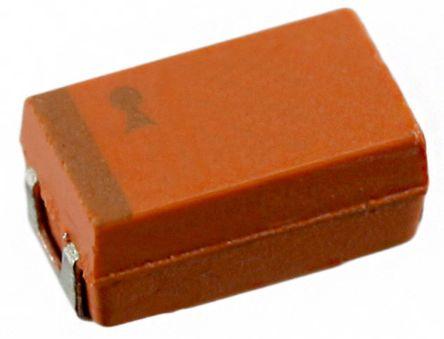 AVX Tantalum Capacitor 100μF 6.3V dc Tantalum Solid ±10% Tolerance , TAJ (20)