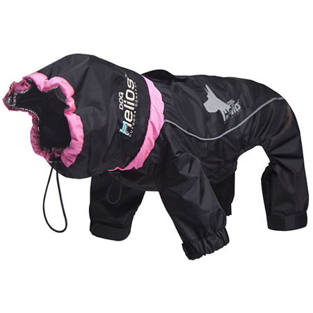 The Pet Life Helios Weather-King Ultimate Windproof Full Bodied Pet Jacket, One Size , Black