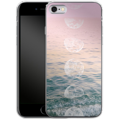 Apple iPhone 6 Silikon Handyhuelle - Moontime Beach von Emanuela Carratoni