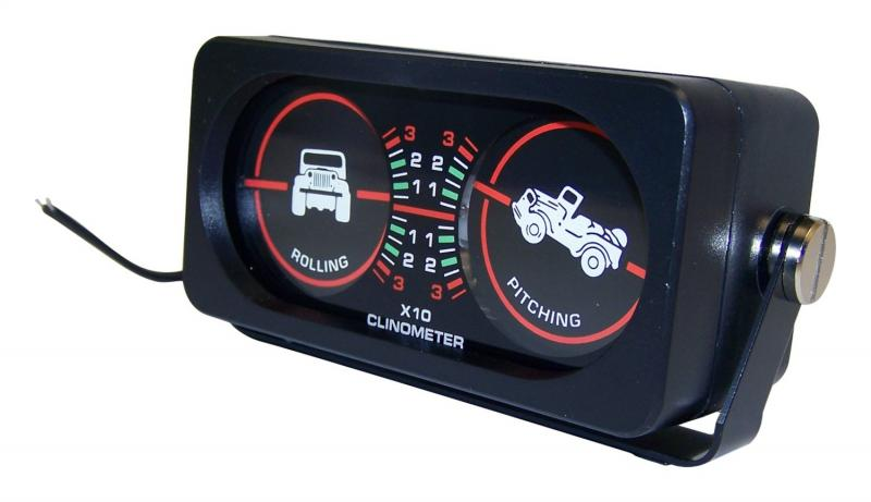RT Offroad RT27003 Clinometer with Roll and Pitch Gauge & CJ Graphics; Fits Any Vehicle;