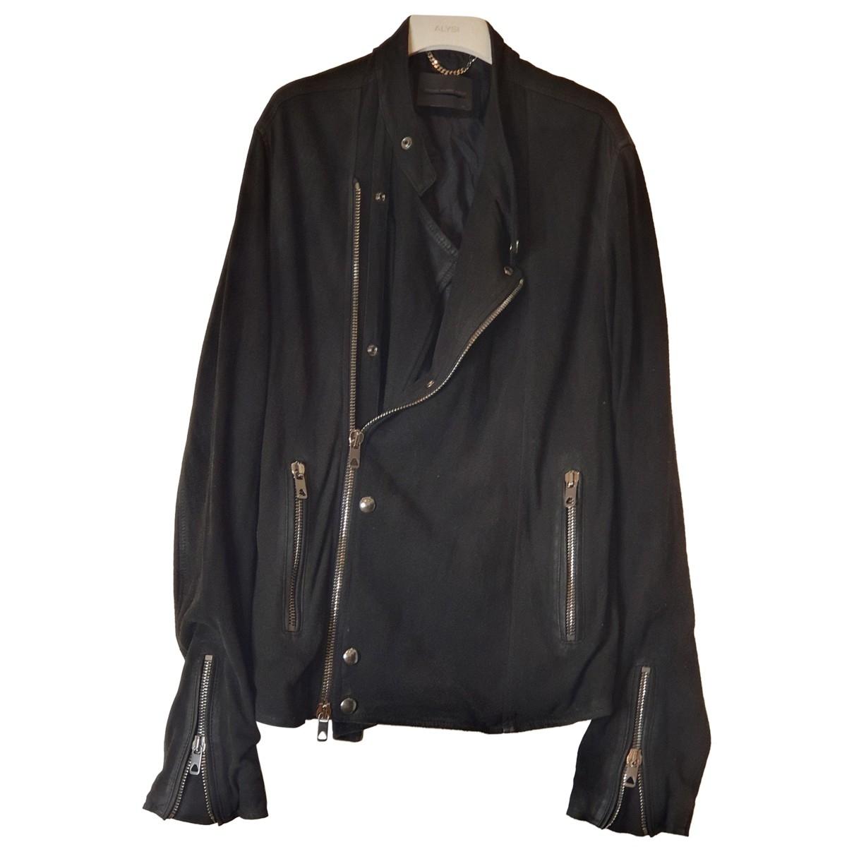 Diesel Black Gold \N Jacke in  Schwarz Leder
