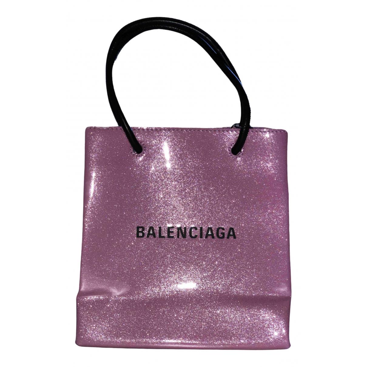 Balenciaga Shopping North South Pink Patent leather handbag for Women \N