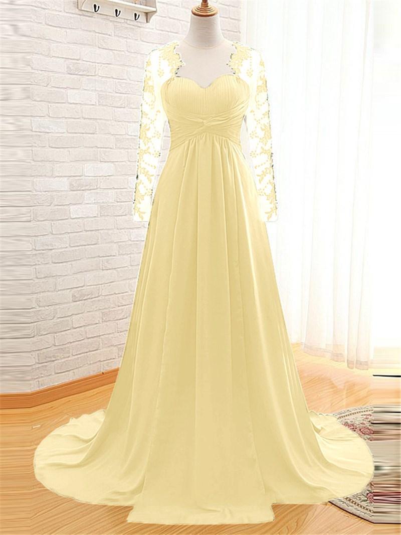 Ericdress A-Line Long Sleeves Evening Dress