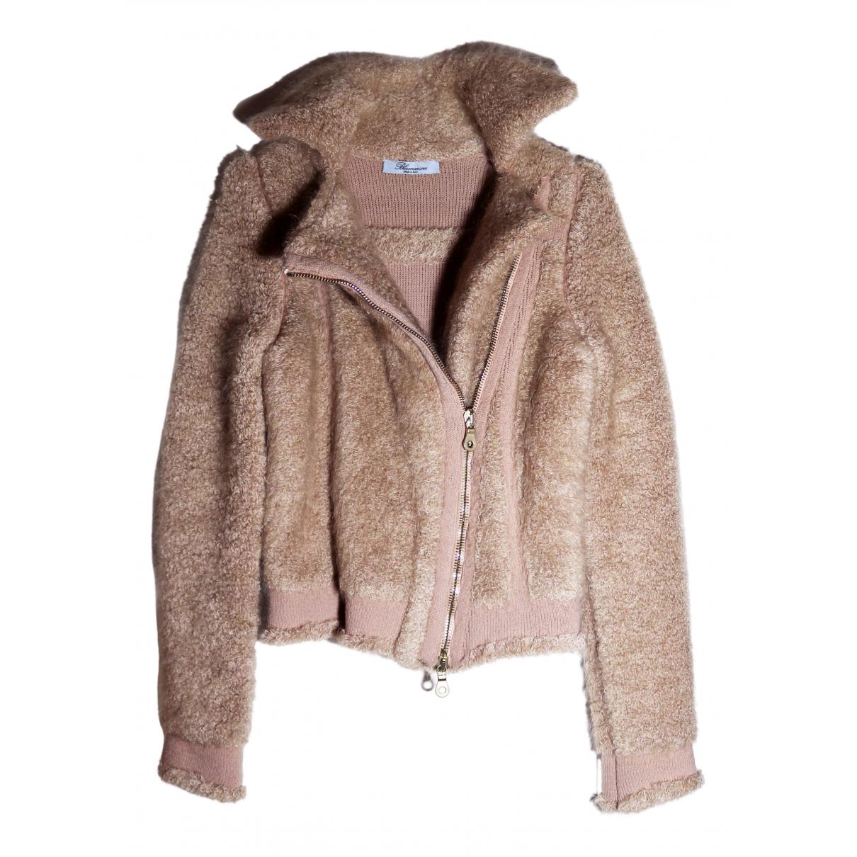 Blumarine - Manteau   pour femme en laine - rose