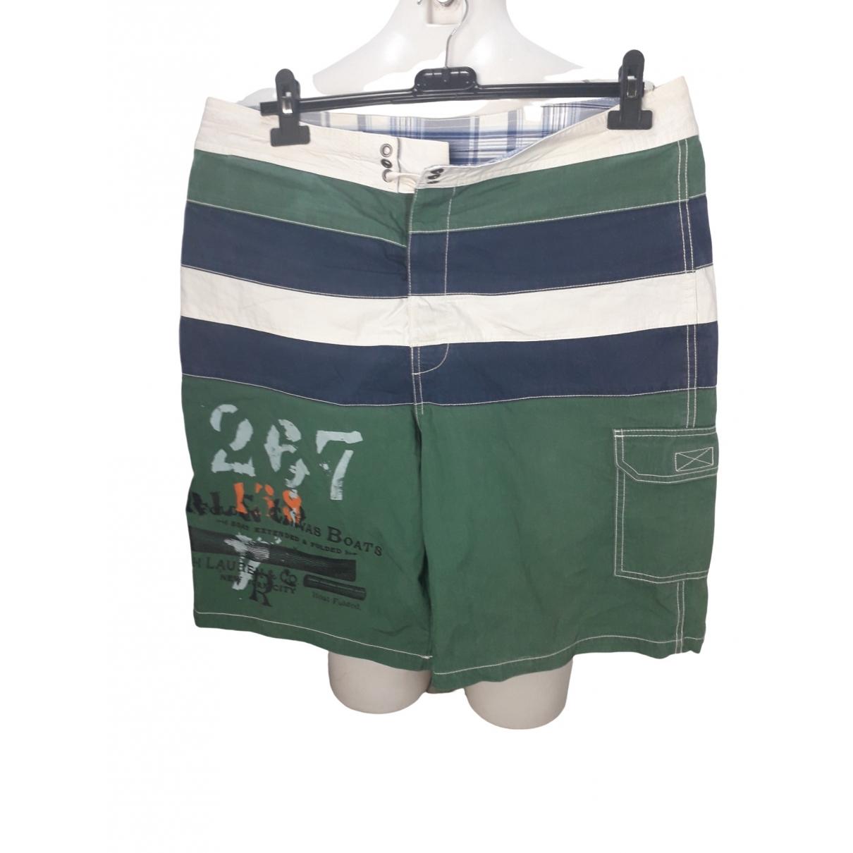 Polo Ralph Lauren \N Badeanzug in  Gruen Baumwolle - Elasthan