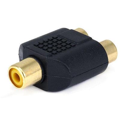 Adaptateur répartiteur RCA jack vers 2x RCA jack, plaqué or - PrimeCables®