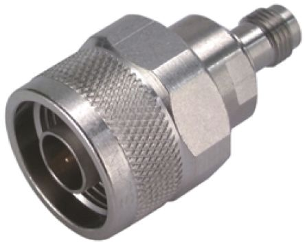 Huber & Suhner Straight 50Ω RF Adapter N Plug to PC2.4 Socket 18GHz