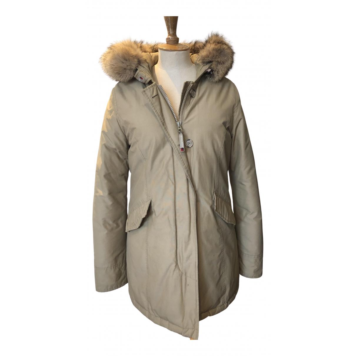 Woolrich - Manteau   pour femme en coton - beige